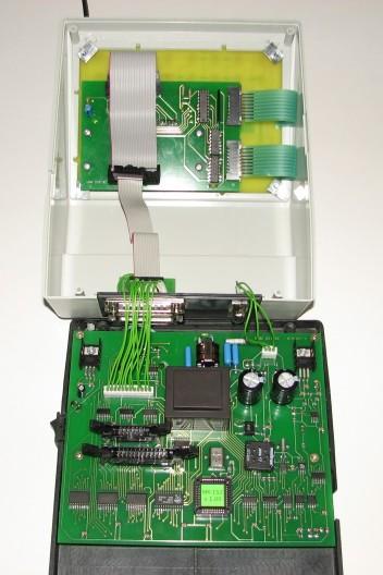Схема расположения элементов на плате контроллера ЭКВМ Электроника МК-152.